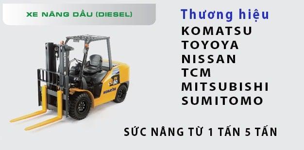 Cho thuê xe nâng dầu diesel