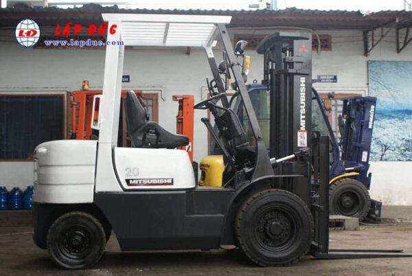 Xe nâng dầu cũ 2 tấn MITSUBISHI FD20 #F18B -09137 giá rẻ