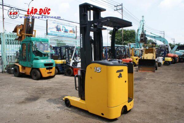 Xe nâng điện đứng lái cũ 1.5 tấn KOMATSU FB15RL# 14 -146097 giá rẻ