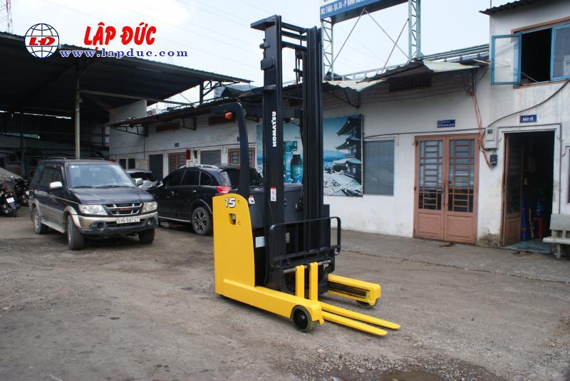 Xe nâng điện đứng lái KOMATSU 1.5 tấn FB15RLF# 14 -146193 giá rẻ
