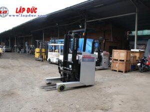 Xe nâng điện đứng lái cũ 1.5 tấn NISSAN U01F15 # R1G-06808 giá rẻ