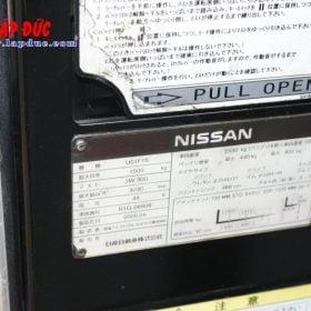 Xe nâng điện cũ NISSAN đứng lái 1.5 tấn U01F15 # R1G-06808 giá rẻ