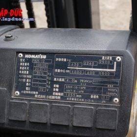 Xe nâng điện ngồi lái cũ KOMATSU 2.5 tấn FB25-12 # 100193