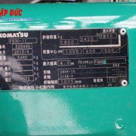 Xe nâng điện cũ KOMATSU ngồi lái 3 tấn FB30-11 # 820446