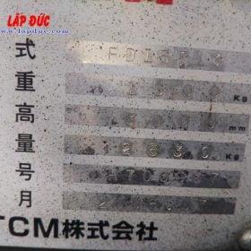 Xe nâng động cơ dầu 1.5 tấn TCM FD15T13 # 0H700997 giá rẻ