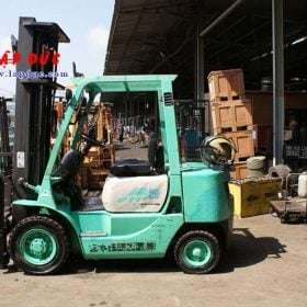 Xe nâng xăng ga cũ 2.5 tấn MITSUBISHI KFG25 # 55046 giá rẻ