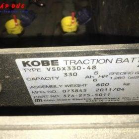 Xe nâng điện ngồi lái cũ 1 tấn KOMATSU FB10-12