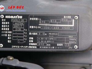 Xe nâng 0.9 tấn xăng KOMATSU FG09LC-20 -662704 giá rẻ