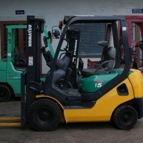 Xe nâng xăng cũ 1.5 tấn KOMATSU FG15LC-20 # 653597 giá rẻ