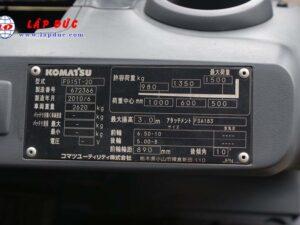 Xe nâng KOMATSU máy xăng 1.5 tấn FG15T-20 # 672366 giá rẻ