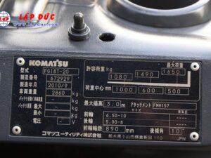Xe nâng động cơ xăng KOMATSU FG18T-20 # 627929 giá rẻ
