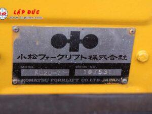 Xe nâng KOMATSU máy xăng 2 tấn FG20-7 # 107531 giá rẻ