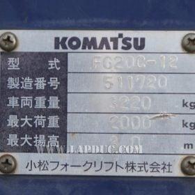 Xe nâng máy xăng KOMATSU 2 tấn FG20C-12 giá rẻ
