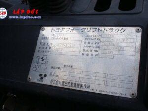 Xe Nâng Xăng 1 tấn TOYOTA FGL10 # 10472