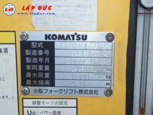 Xe nâng điện KOMATSU đứng lái 1 tấn FB10RL-12 giá rẻ