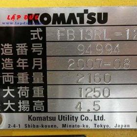 Xe nâng điện KOMATSU 1.3 tấn đứng lái FB13RL-12 giá rẻ