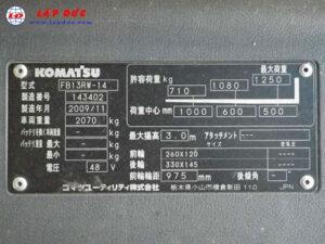 Xe nâng điện KOMATSU 1.3 tấn đứng lái FB13RW-14