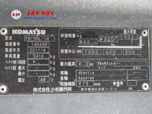 Xe nâng điện đứng lái 1.5 tấn KOMATSU FB15RL-14