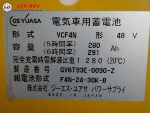 Xe nâng điện đứng lái cũ KOMATSU 1.5 tấn FB15RW-14