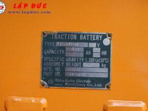 Xe nâng điện đứng lái cũ 3 tấn KOMATSU FB30RFV-4