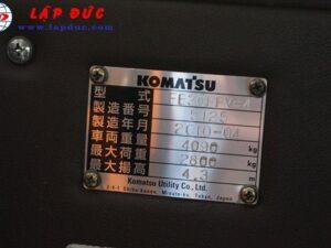 Xe nâng điện KOMATSU đứng lái 3 tấn FB30RFV-4