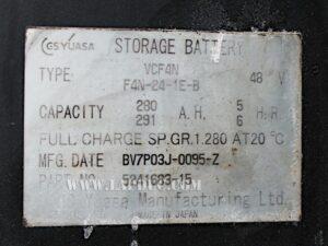 Xe nâng điện đứng lái cũ 1.5 tấn NISSAN U01F15T