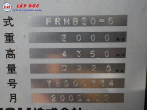 Xe nâng điện TCM 2 tấn đứng lái FRHB20-6