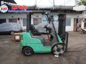Xe nâng máy dầu cũ MITSUBISHI 1.5 tấn FD15D # 51325 giá rẻ