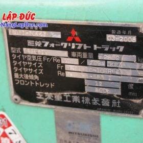 Xe nâng 1.5 tấn dầu MITSUBISHI FD15D # 51325 giá rẻ
