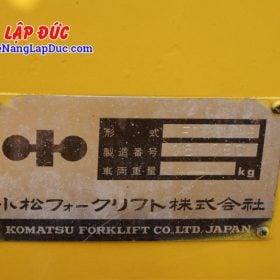 Xe nâng KOMATSU 2.5 tấn dầu FD25L-8 # 160080 giá rẻ