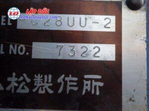 Xe cuốc KOMATSU PC28UU-2 # 7322