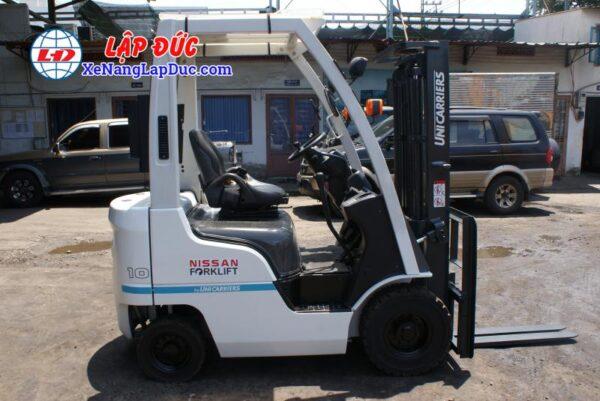 Xe nâng cũ động cơ xăng NISSAN 1 tấn NP1F1 # 400155 giá rẻ